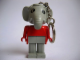 Gear No: KCF07  Name: Elephant 2 Key Chain - older metal chain, no LEGO logo on back