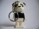 Gear No: KCF24  Name: Panda 1 Black Torso and White Arms Key Chain - older metal chain, no LEGO logo on back