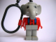 Gear No: KCF31  Name: Elephant 3 Key Chain - plastic chain, red LEGO logo on back
