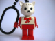 Gear No: KCF32  Name: Cat 4 Key Chain - plastic chain, red LEGO logo on back