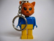 Gear No: KCF42  Name: Cat 5 Key Chain - older metal chain, no LEGO logo on back