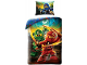 Gear No: LEG613BL  Name: Bedding, Duvet Cover and Pillowcase (135 x 200 cm) - Ninjago Masters Of Spinjitzu Jay, Lloyd & Kai