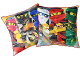 Gear No: LEG633  Name: Bedding, Pillow - Ninjago double sided, 3 Figures on each side Pattern #2