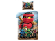 Gear No: LEG742BL  Name: Bedding, Duvet Cover and Pillowcase (140 x 200 cm) - Ninjago Kai