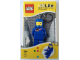 Gear No: LGL-KE10blue  Name: LED Key Light Classic Space Minifig Key Chain Blue