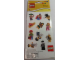 Gear No: LGO3174  Name: Sticker, Collectible Minifigures, Series 1 - 3, Set of 12 (2 Sheets)