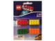 Gear No: LGO6715  Name: Eraser, The LEGO Movie Brick Eraser Set of 4 (Red, Yellow, Green, Orange)