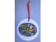 Gear No: LLCA05  Name: Christmas Tree Ornament, Legoland California Ceramic Plate with Minifigures Pattern