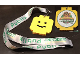 Gear No: LLFld03  Name: Lanyard with Glued LEGO Minifigure Head Medallion and Legoland Florida Resort Brick Dash 5K Pattern