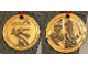 Gear No: LLmedal4  Name: Medal from Goldwash in Legoland - Metal, Castle Minifigures and Dragon Pattern (Legoland California)