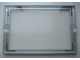 Gear No: Mx2420E  Name: Modulex Door Name Plate Holder Case with Screw Holes (For 49 x 75 Mounted Baseplate)