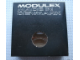 Gear No: MxBox22WL  Name: Modulex Storage Box Black 2 x 2 with Window and 'MADE IN DENMARK' (Empty)