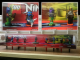 Gear No: NinjagoBox01  Name: Display Assembled Minifigs, Ninjago on Turntables in Plastic Case with Mount
