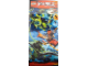 Gear No: NjoBan07  Name: Display Flag Cloth, Ninjago Kai, Evil Green Ninja and Morro Dragon