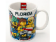 Gear No: OrlandoMug  Name: Food - Cup / Mug, Orlando, Florida Minifigures Pattern