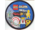 Gear No: Patch07  Name: Patch, Sew-On Cloth Round, Lego System Time Cruiser