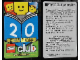 Gear No: clubcard1  Name: LEGO Club - Official Membership Card