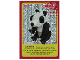Gear No: ctw069FR  Name: Create the World Trading Card #069 Create: Panda (French)