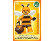 Gear No: ctw086  Name: Create the World Trading Card #086 Bumblebee Girl