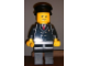 Gear No: displayfig20  Name: Display Figure 7in x 11in x 19in (black jacket, black pants, black hat, Airport)