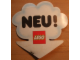 Gear No: displaysign013  Name: Display Sign Cloud Clamp with 'NEU!' Pattern