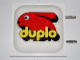 Gear No: displaysign048  Name: Display Sign Large Duplo Logo (Old Style) with Bolts on Side