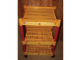 Gear No: dispshelf  Name: Display Floor Shelf with Lego Logo Sticker Tape and Four Red Support Tubes, on Casters