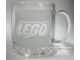 Gear No: globemug  Name: Food - Cup / Mug, LEGO Logo White Pattern, Globe on Bottom
