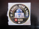 Gear No: gstksw15  Name: Sticker, Star Wars Round - R2-D2 'BE A REBEL. READ A BOOK.'