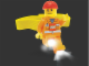 Gear No: headlamp4  Name: Head Lamp, Minifigure LED Headlamp Torch - Construction Worker