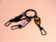 Gear No: ickc02  Name: Imagination Center Key Chain Bull shield with Knight