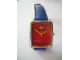 Gear No: legowatch02  Name: Watch Set, Classic Lego - Stainless Steel Red Face and Blue Leather Strap
