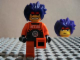 Gear No: magexf007  Name: Magnet, Minifig Exo-Force Ryo (Purple Hair, Headband)