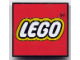 Gear No: magll1  Name: Magnet Flat, Lego Logo - Red Square