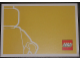 Gear No: pc10look2  Name: Postcard - Launch of our new corporate look - Minifigure Outline on Yellow