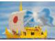 Gear No: pc88lws2  Name: Postcard - Lego World Show, Adventurers - Thor Heyerdahl's rush boat 'RA'