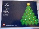 Gear No: pc97xmas  Name: Postcard - Christmas Tree and Lego Star