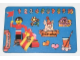Gear No: pcA4  Name: Postcard - Birthday Party Invitation with Stickers - A-4 Homemaker Figure with Pennant (Dutch)