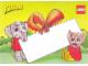 Gear No: pcfab2  Name: Postcard - Fabuland Elephant and Mouse