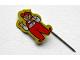 Gear No: pin087  Name: Pin, Lego Man, Yellow Border
