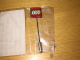 Gear No: pin122  Name: Pin, Lego Logo Square Red Type 2 - Stick Pin with end attachment