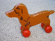 Gear No: pulldog  Name: Wooden Pull-Along Dog, Small with Wheels