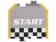 Gear No: racegametracks3  Name: Racers Game Track Piece Special Start