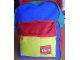 Gear No: satchel3  Name: Backpack Green, Blue, Red and Yellow with Lego Logo