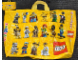 Gear No: tote06  Name: Tote Bag Large, PVC with Collectible Minifigures Series 1 Pattern