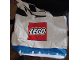Gear No: tote07  Name: Tote Bag, Lego Logo Pattern, Blue Winter Scene with Trees