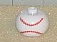 Gear No: bead003pb008a  Name: Bead, Globular with Ball Pattern, Baseball Stitching Horizontal