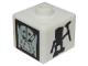 Gear No: bead004pb072  Name: Bead, Square with Bionicle Turaga Nuju and Matatu Pattern (P1702)