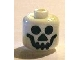 Gear No: bead006pb15  Name: Bead, Cylinder Large with Minifigure Head Pattern, Standard Skull