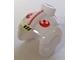 Gear No: bead033pb01  Name: Bead, Minifigure Style Headgear, Helmet SW Rebel Pilot with Red Rebel and Stripe Pattern